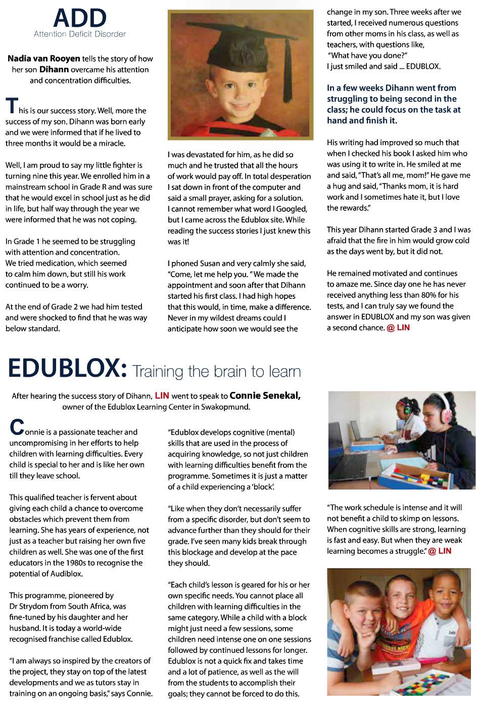 Edublox in LIN magazine