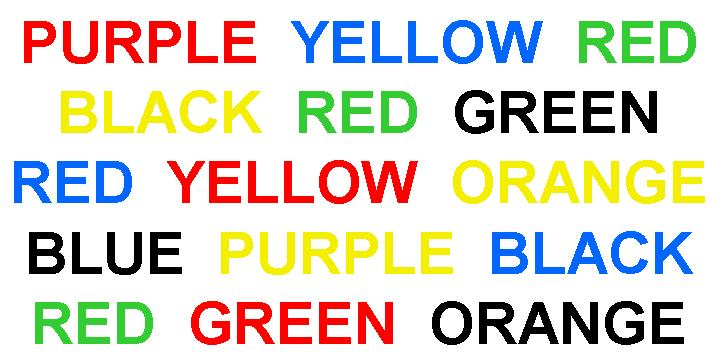the stroop effect and attention effect Stroop effect / stroop test online test demonstration of the capacity to direct attention, a resource needed for the civil transition to sustainable living.