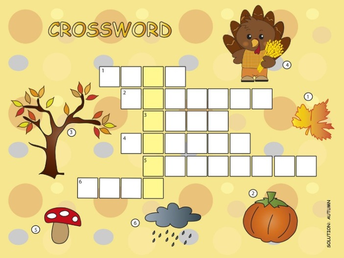 Crossword Puzzle Autumn