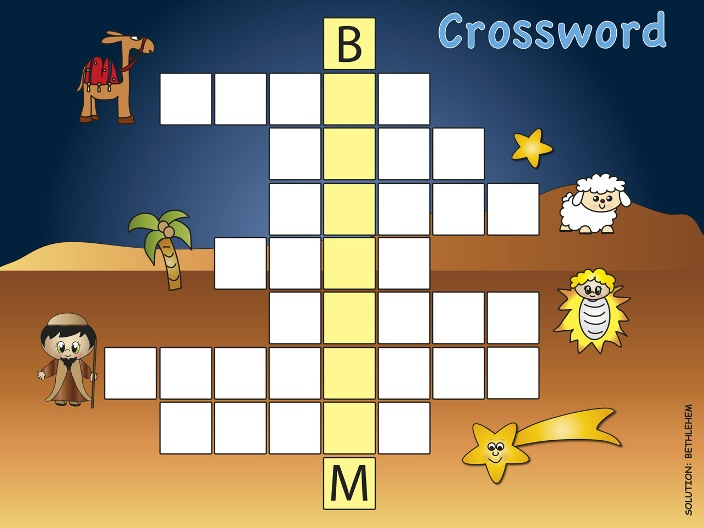 Crossword Puzzle: Bethlehem
