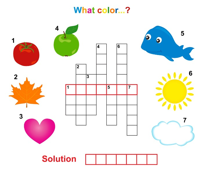 Crossword Puzzle: Colours