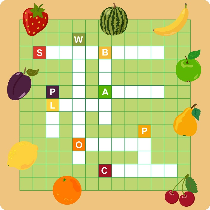 Crossword Puzzle: Fruit