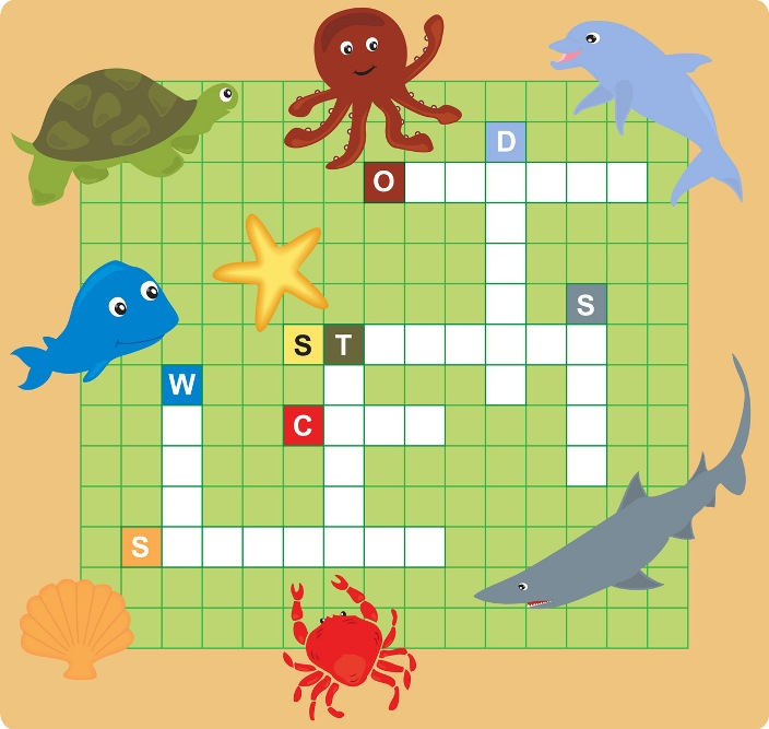 Crossword Puzzle: Sea Animals