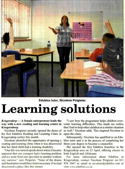 Krugersdorp News Article