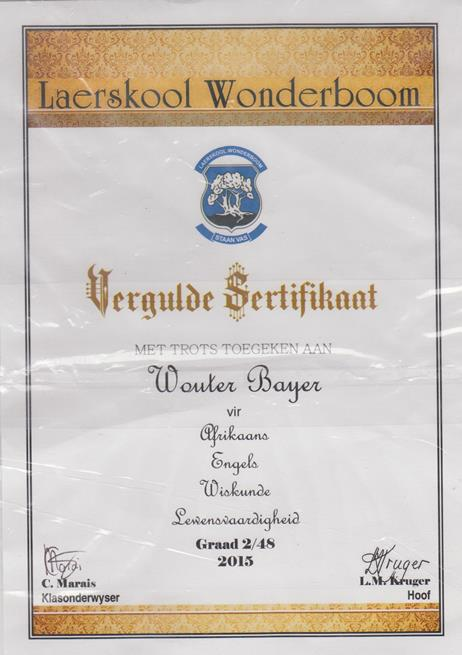 Wouter Academic Diploma