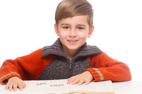 Boy reading 2