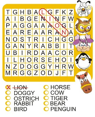 Printable Word Search Puzzles for Kids