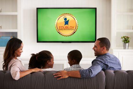 Family watching TV 2