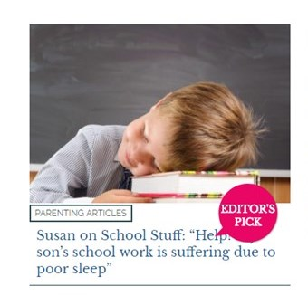 Susan On School Stuff Help My Son S Work Is Suffering Due To Poor Sleep