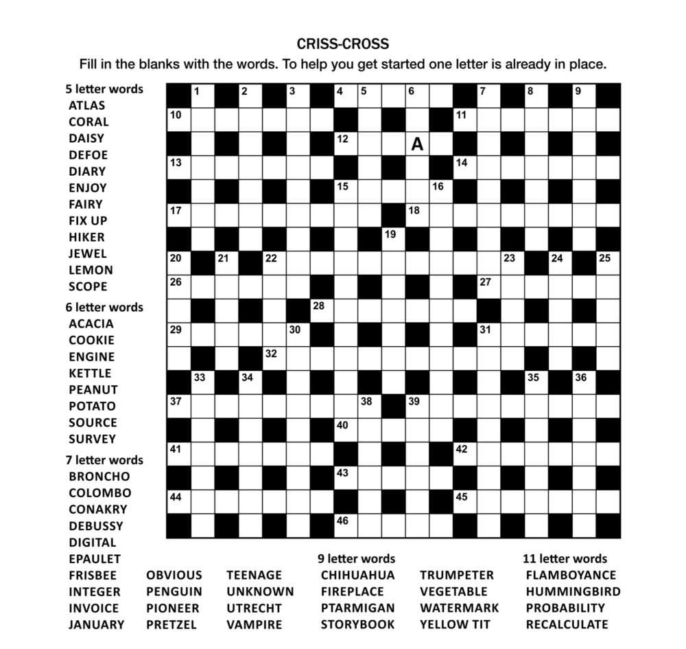 image about Printable Crossword Puzzles for Teens referred to as Crossword Puzzles
